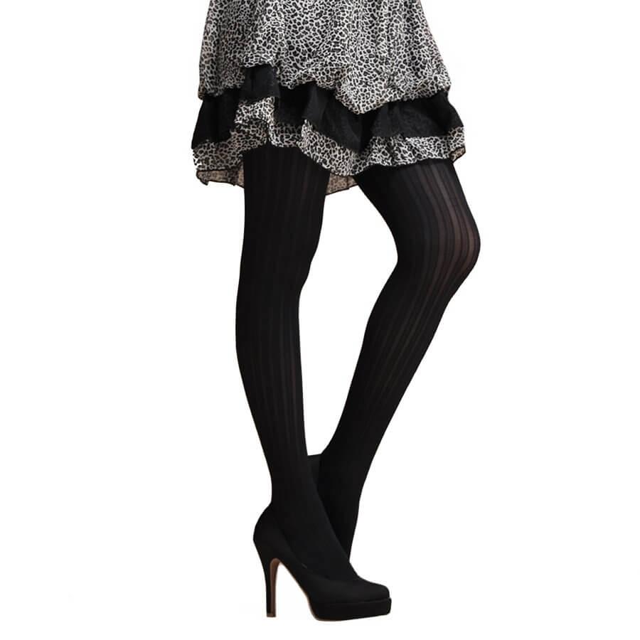 7a4f4fbc6dc45 Fashion Jacquard Pantyhose-Striped Pattern, 60D